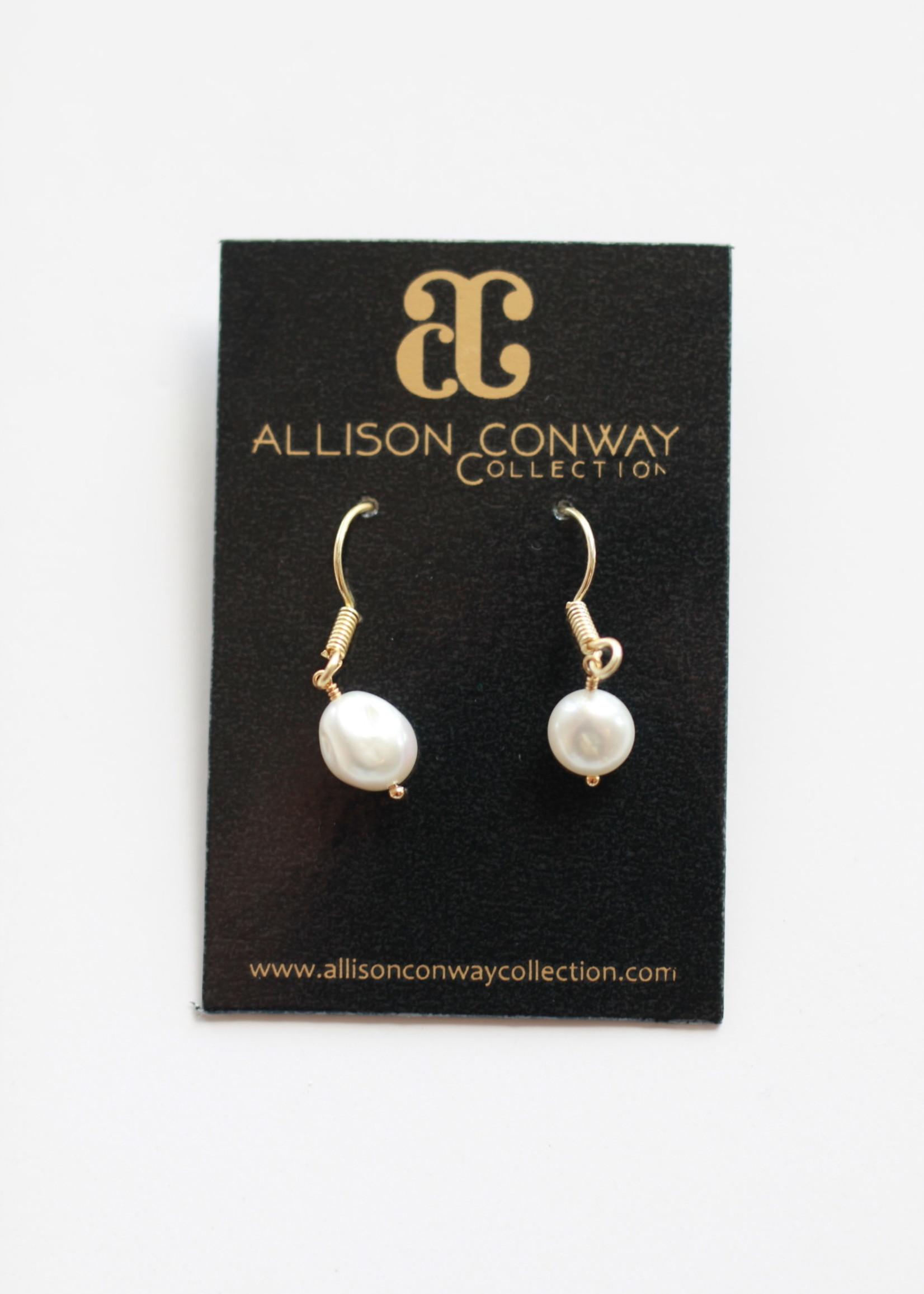 Allison Conway AC Pearl Drop Earrings