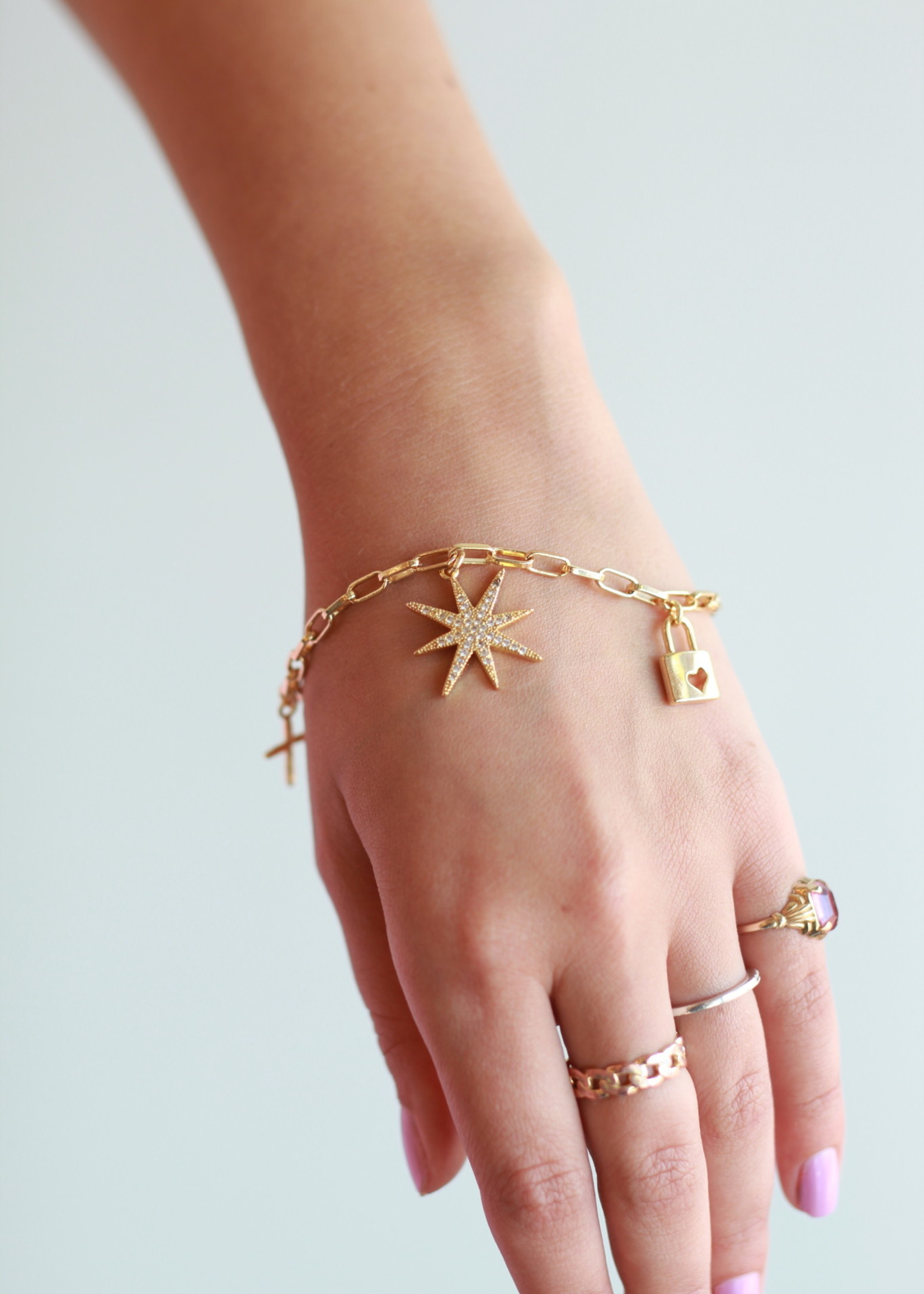Allison Conway AC Lover Charm Bracelet