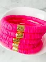 Mod Miss Jewelry Hot Pink Color Pop Bracelet Medium