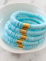 Mod Miss Jewelry Mint Blue Color Pop Bracelet Medium