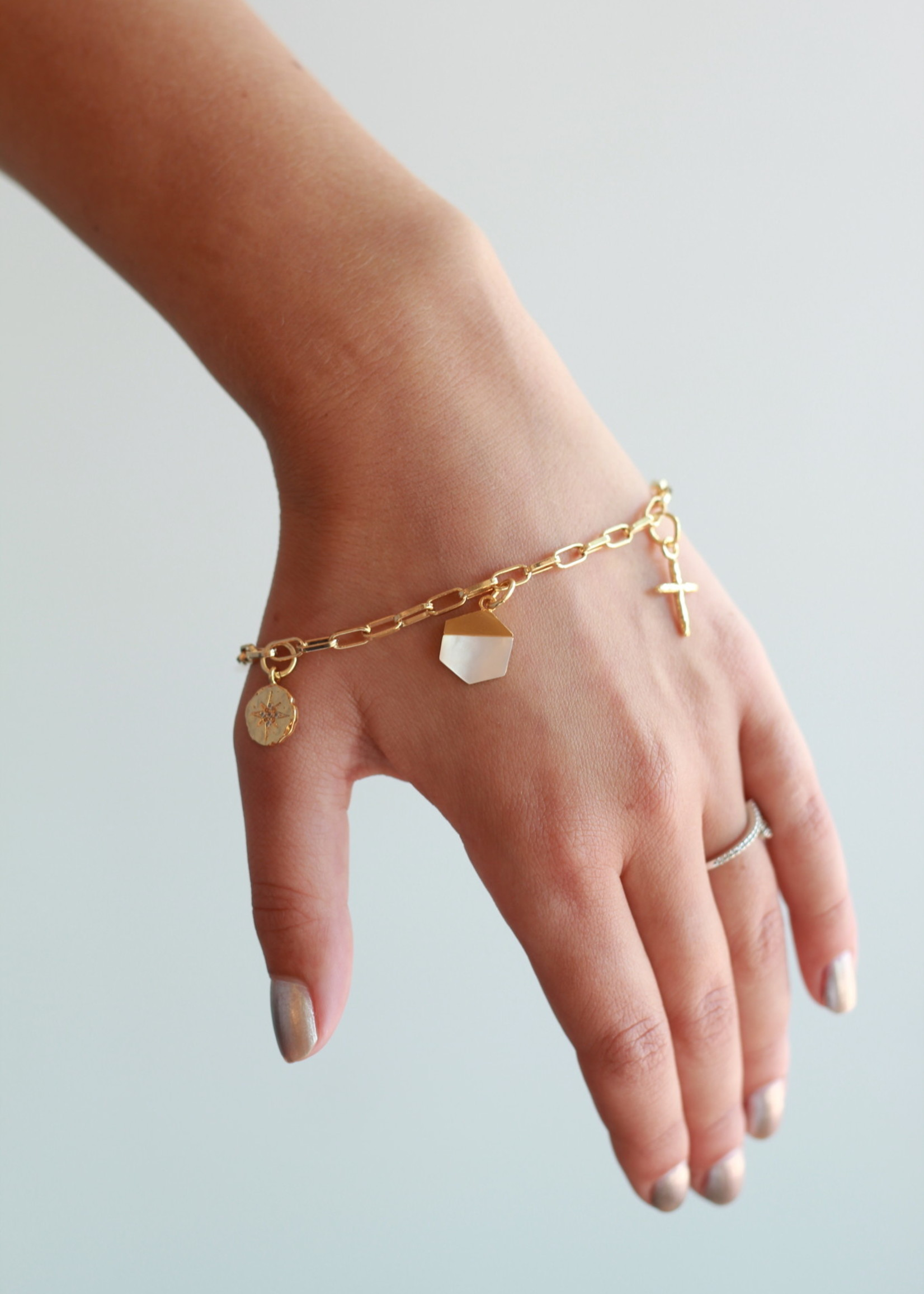 Allison Conway AC Golden Spirit Charm Bracelet