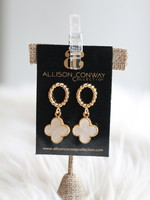 Allison Conway AC Pearlescent Quatrefoil Earrings