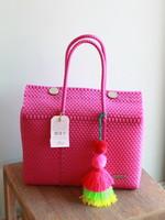 Valerosa Boutique Valerosa Dark Pink Dia Purse With Colorful Tassel