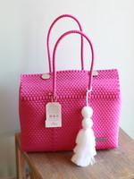 Valerosa Boutique Valerosa Dark Pink Dia Purse With White Tassel