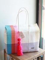 Valerosa Boutique Valerosa  Sunset Dia Duffle Bag With Pink Tassel