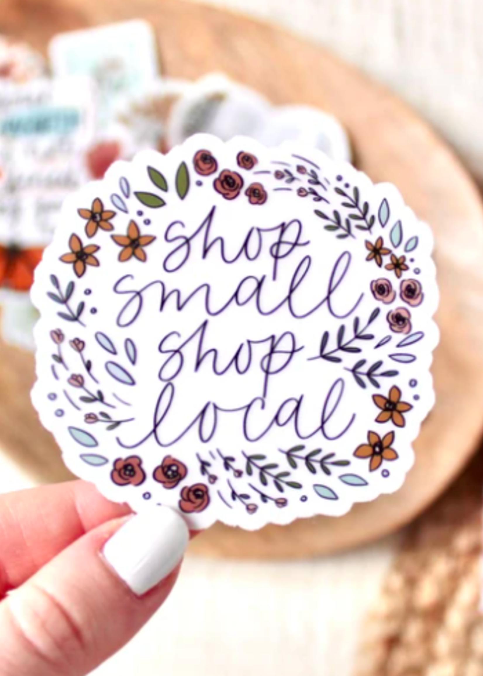 Elyse Breanne Design Clear Shop Small Local Sticker