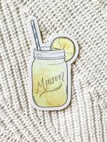 Elyse Breanne Design Lemonade Mason Jar Sticker