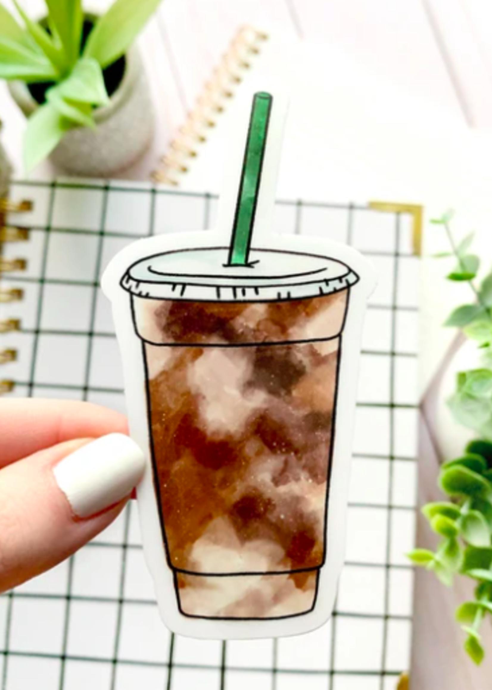 Elyse Breanne Design Iced Coffee Sticker