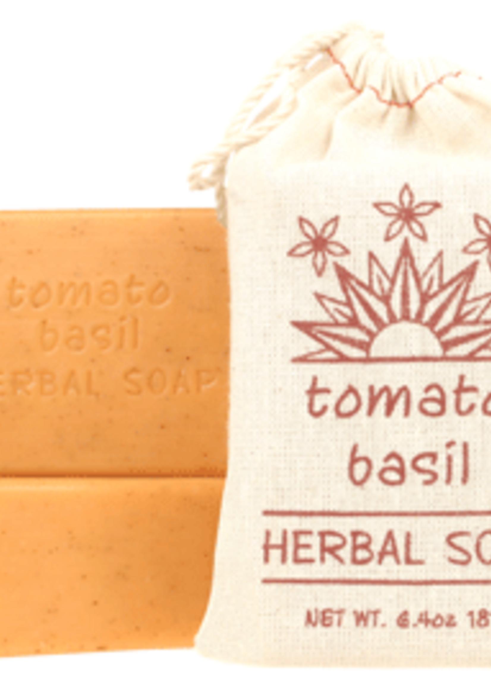 Tomato Basil Herbal Soap Block