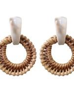 St Armands Designs of Sarasota Cream Bali Button Stud Earrings