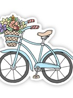 Big Moods Blue Bicycle Sticker-Summer Vibes