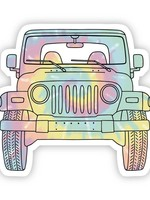 Big Moods Tie Dye Jeep Front Sticker