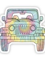 Tie Dye Jeep Front Sticker