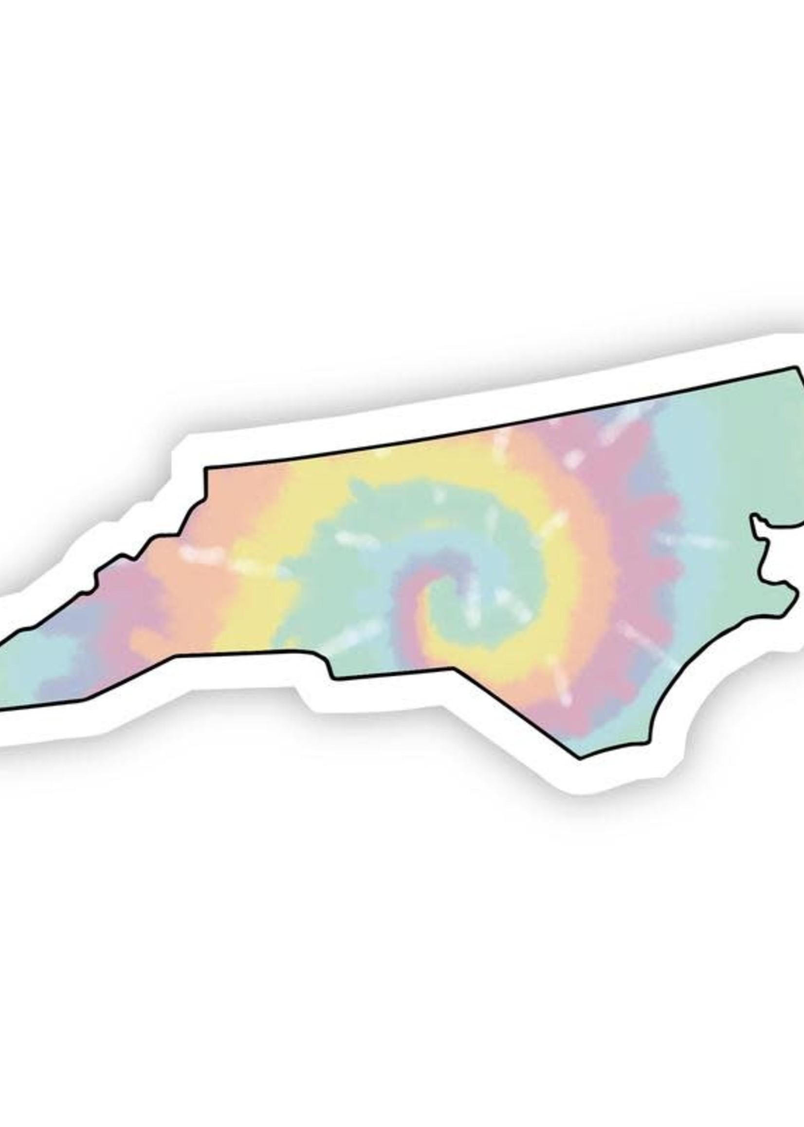 Big Moods North Carolina Tie Dye Sticker