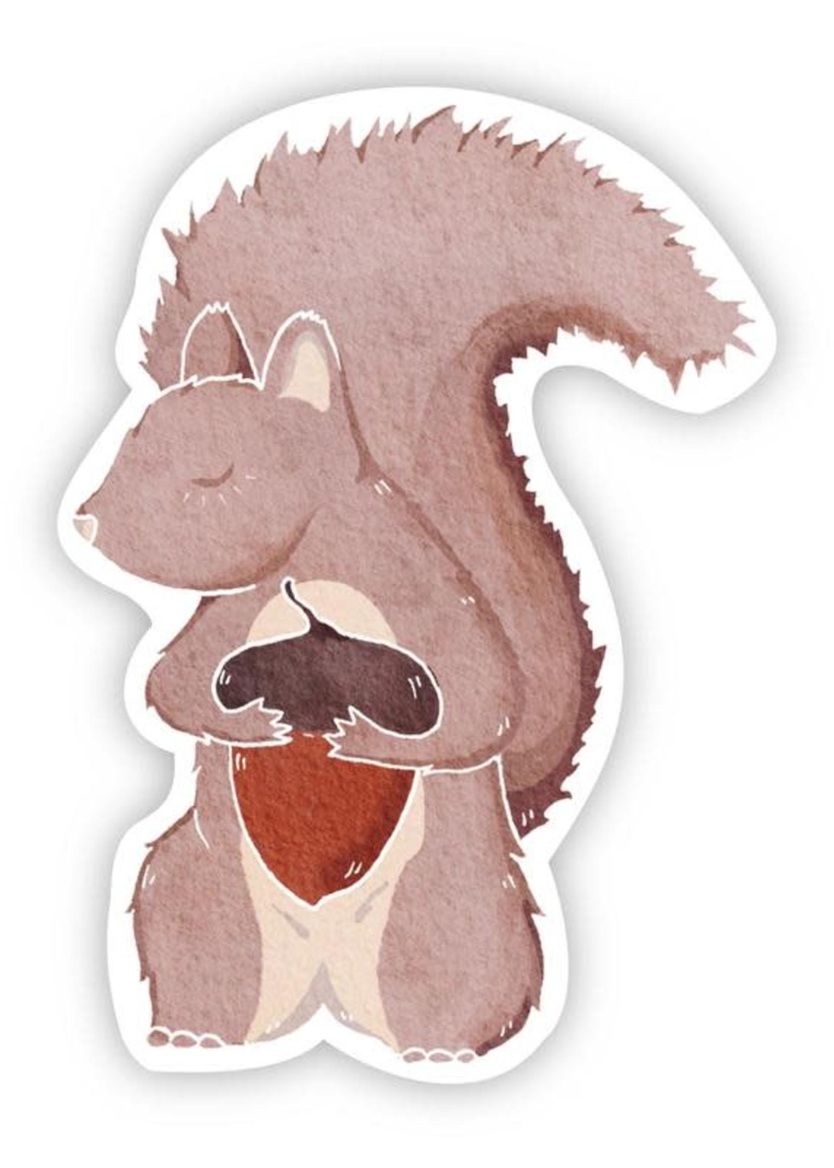 Big Moods Squirrel With Acorn Sticker