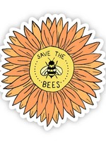 Save The Bees Floral Sticker
