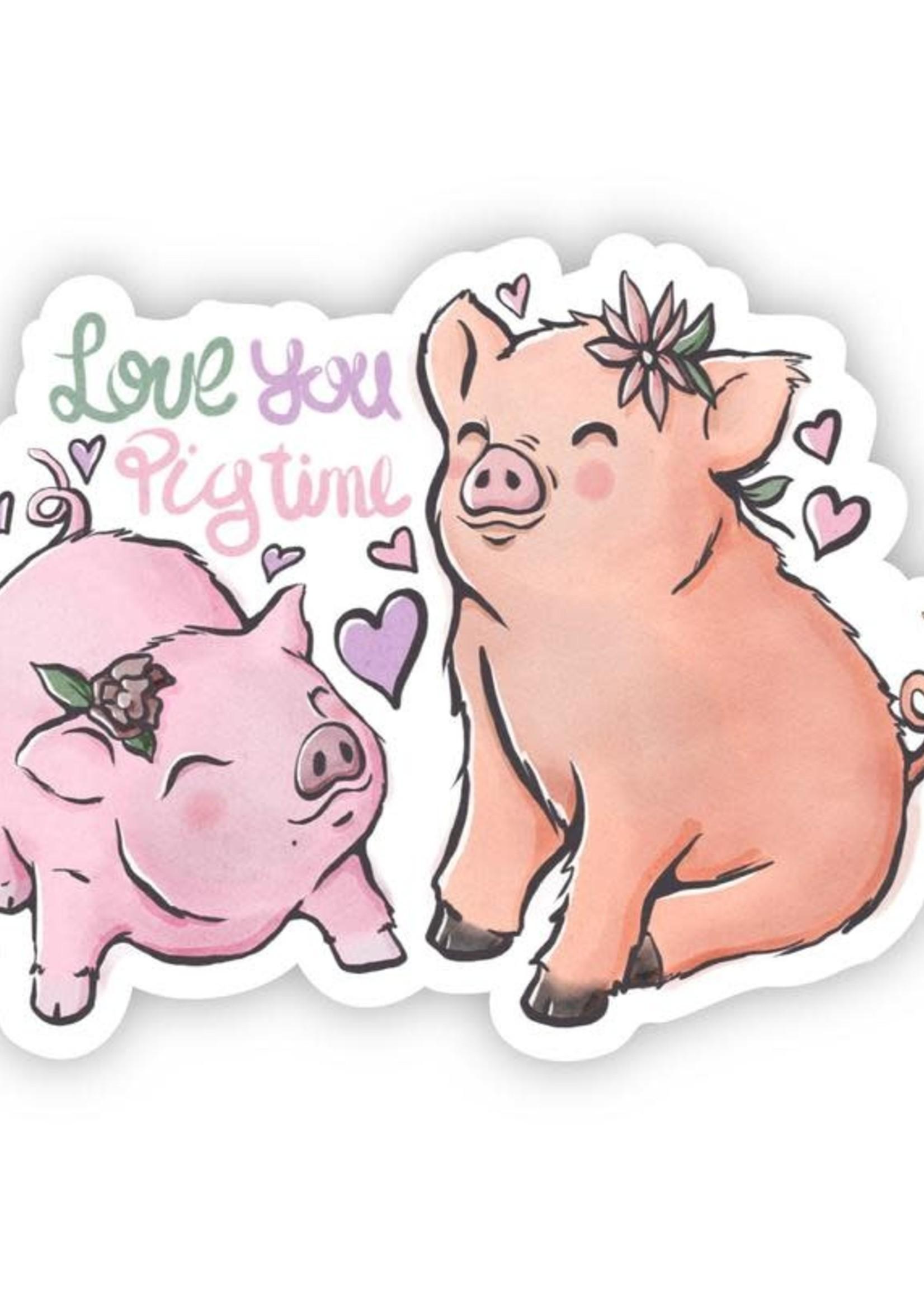 Big Moods Love You Pig Time Sticker