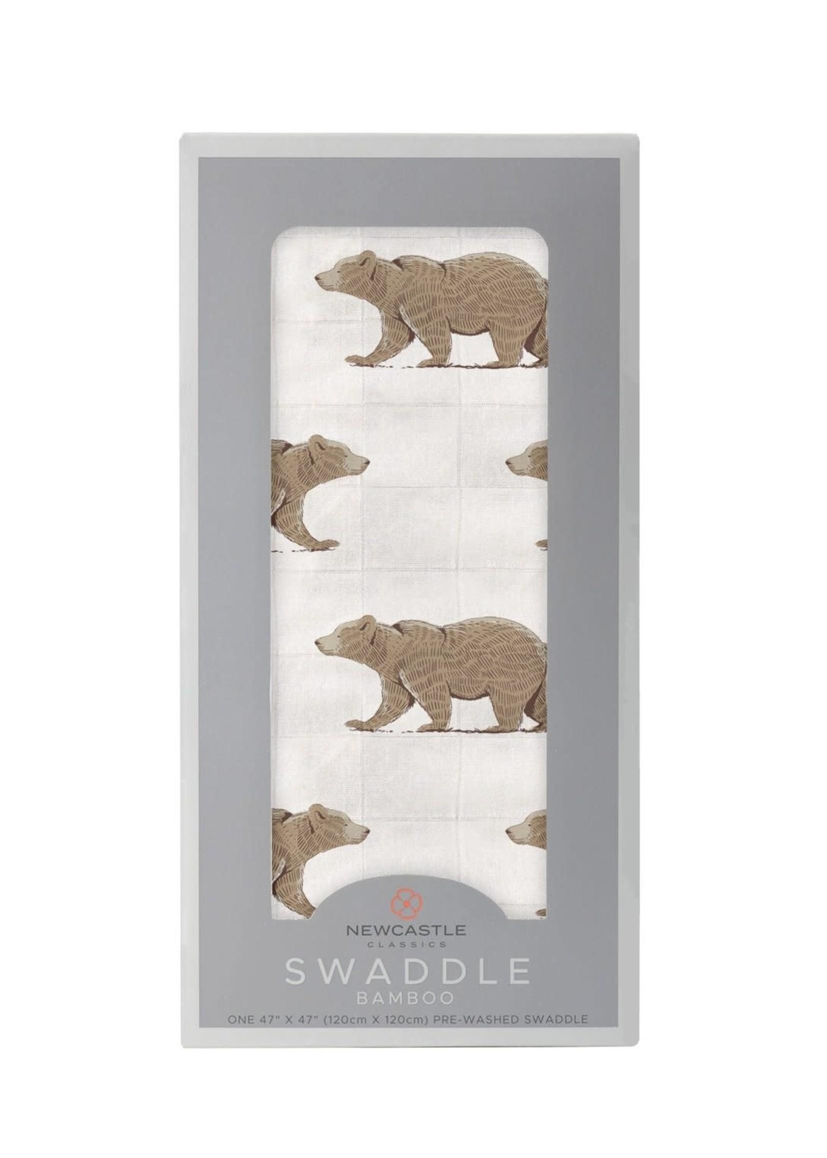 Newcastle Classics Goodnight Bear Bamboo Swaddle