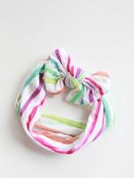 Bright Watercolor Stripe Nylon Headband