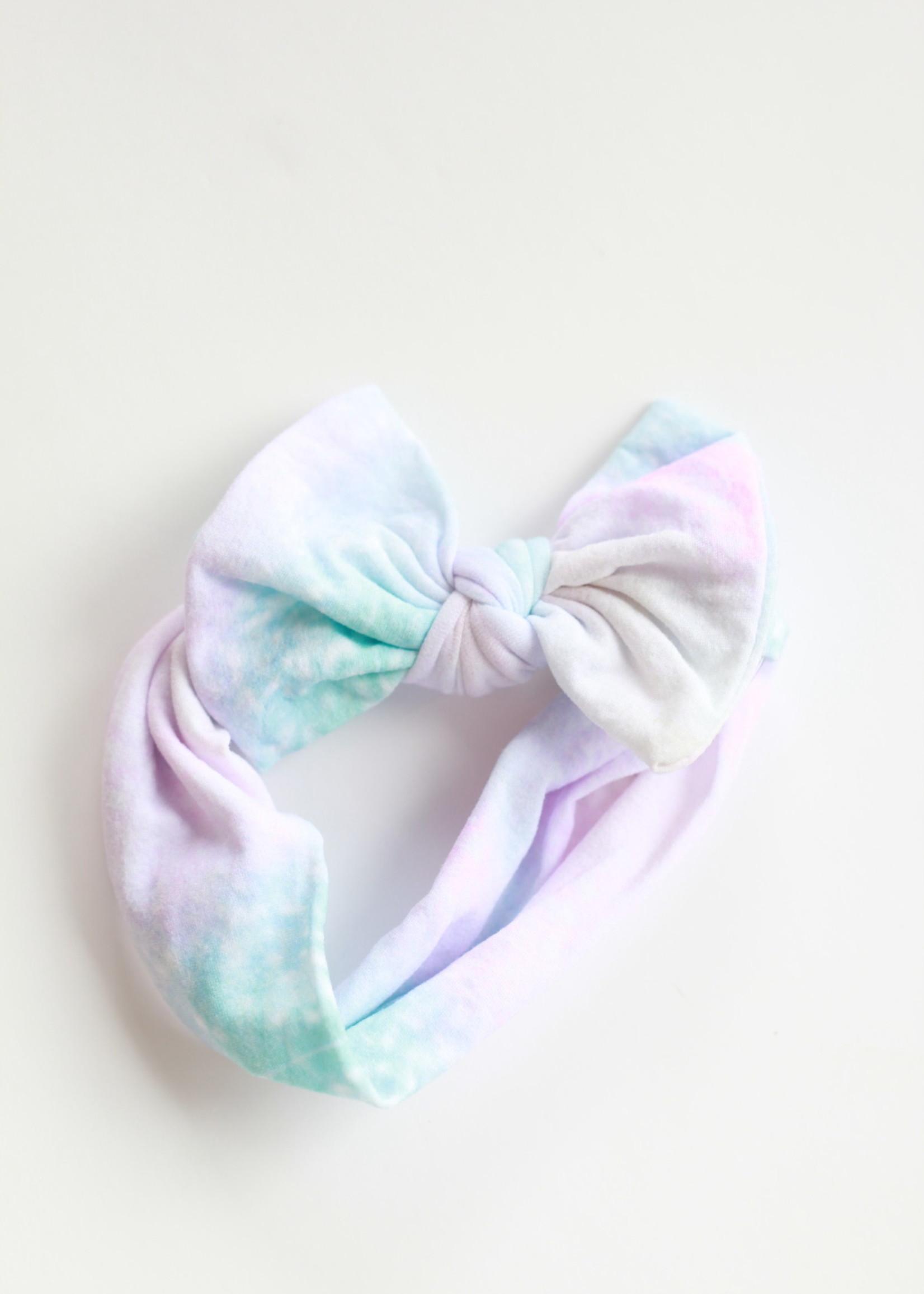 Golden Dot Lane Watercolor Tie Dye Nylon Headband