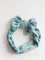Golden Dot Lane Sage Watercolor Tie Dye Nylon Headband