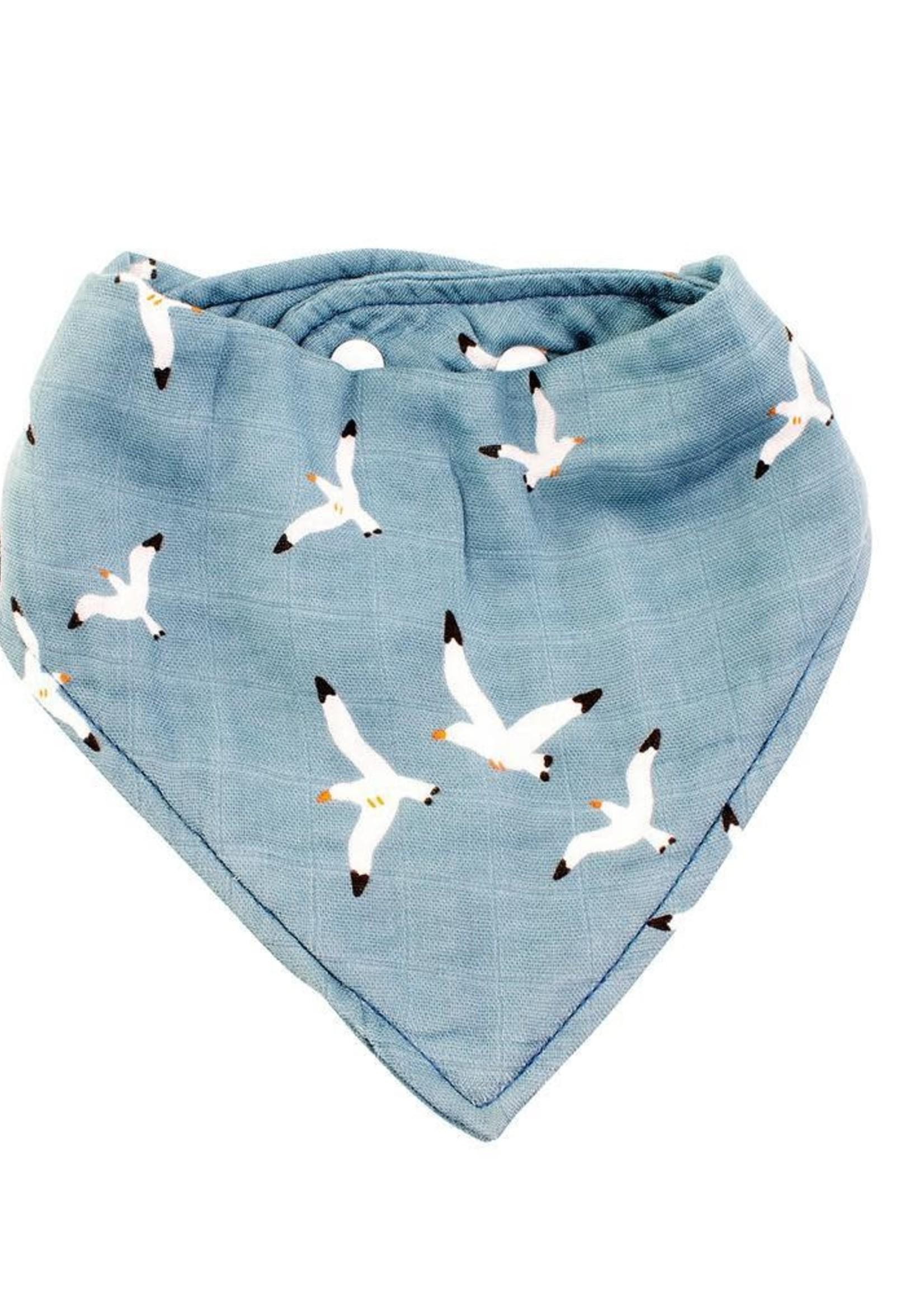 Bebe Au Lait Seagulls Oh-So-Soft Muslin Bandana Bib