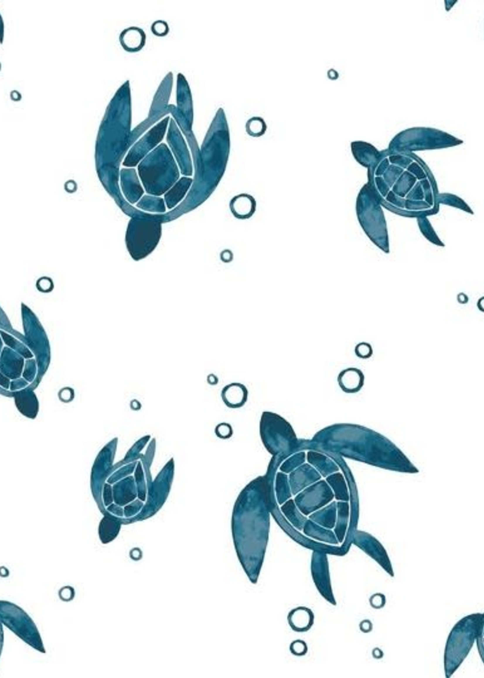 Bebe Au Lait Sea Turtles Oh-So-Soft Muslin Swaddle Blanket