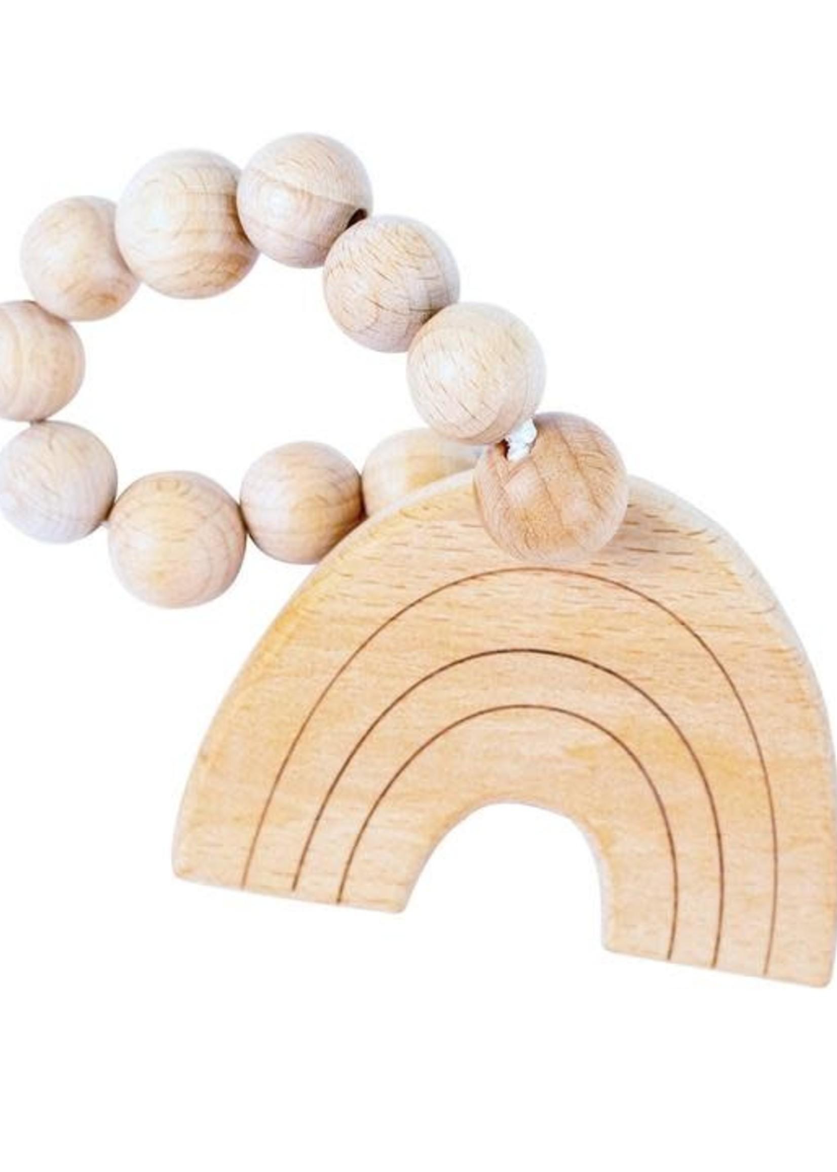 Bebe Au Lait Rainbow Natural Wooden Teether