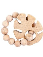 Bebe Au Lait Tropical Leaf Natural Wooden Teether
