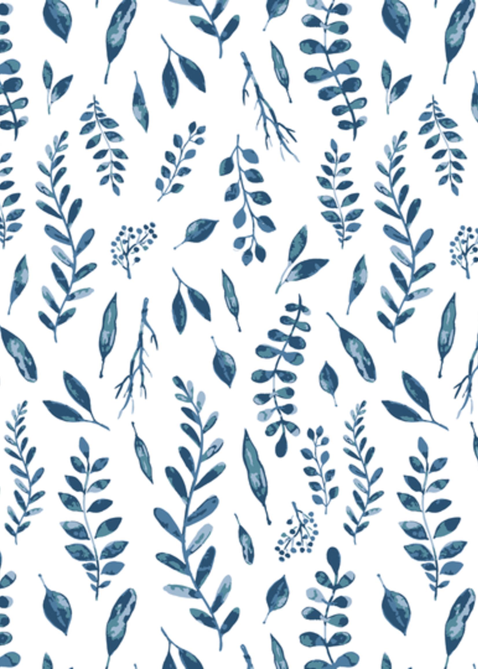 Bebe Au Lait Blue Leaves Cotton Muslin Bandana Bib
