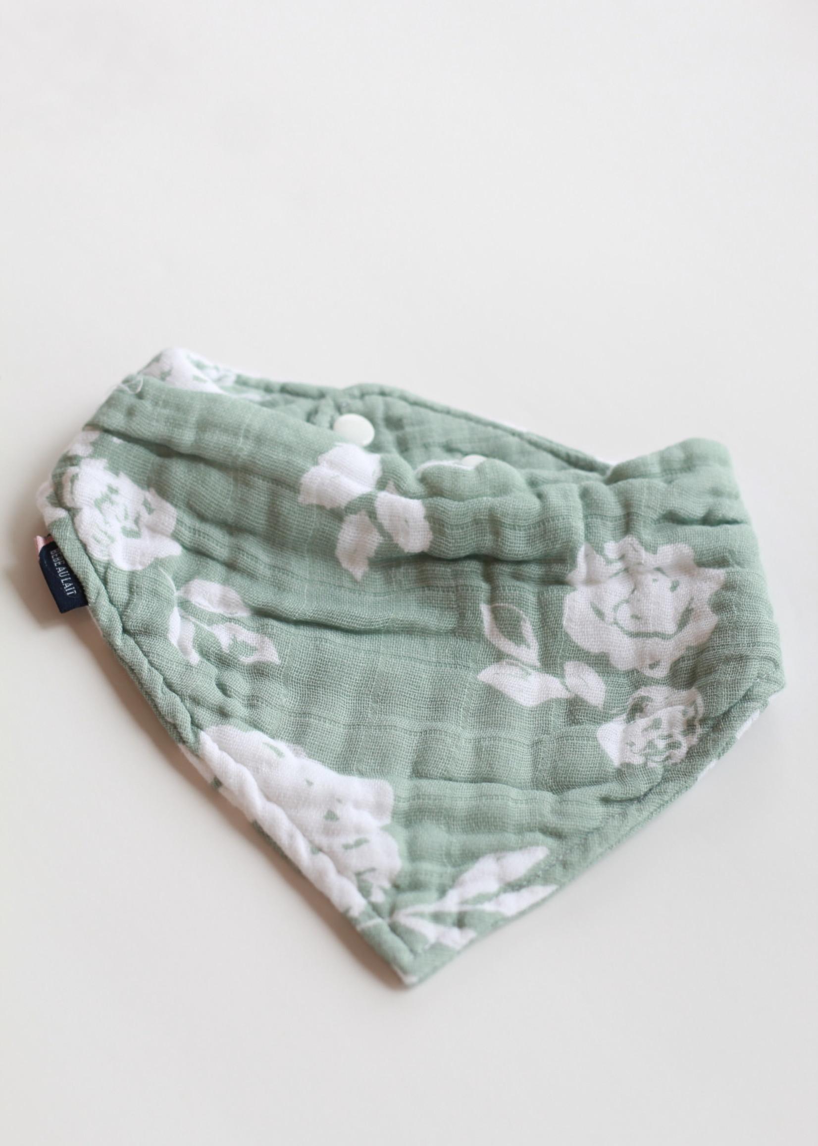 Bebe Au Lait Vintage Floral Cotton Muslin Bandana Bib