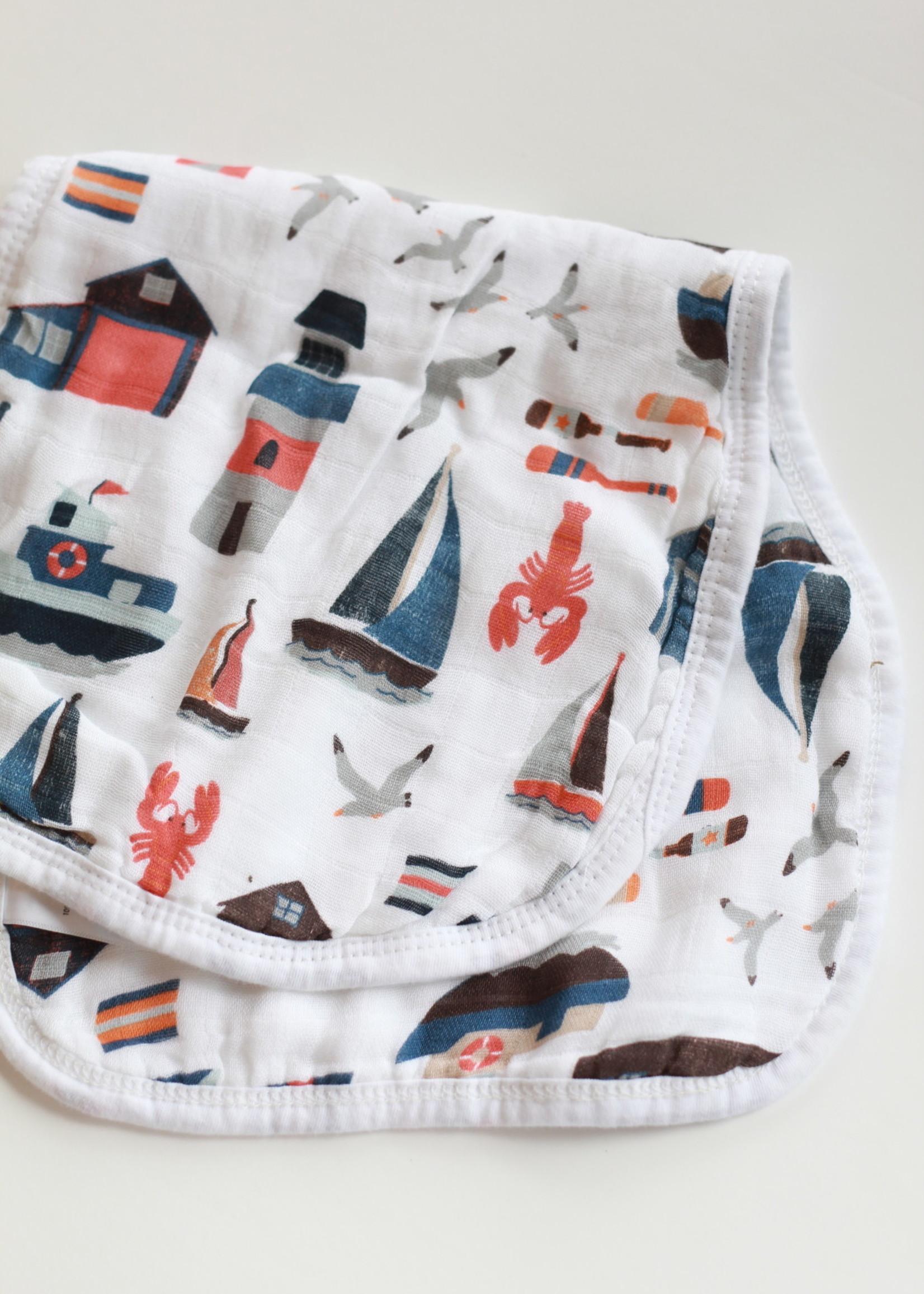 Bebe Au Lait Nautical Oh-So-Soft Muslin Burp Cloth