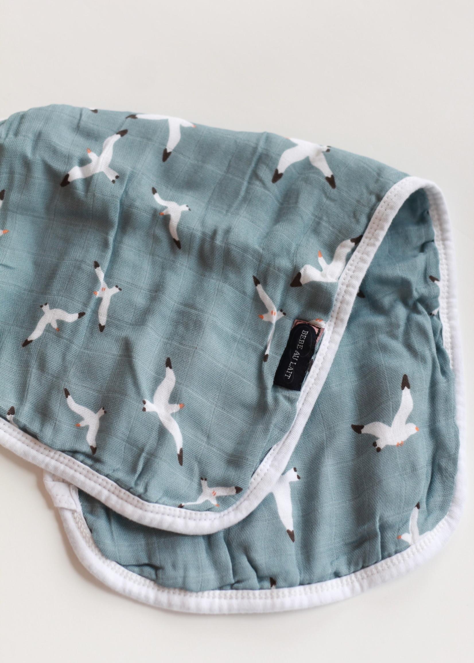 Bebe Au Lait Seagulls Oh-So-Soft Muslin Burp Cloth