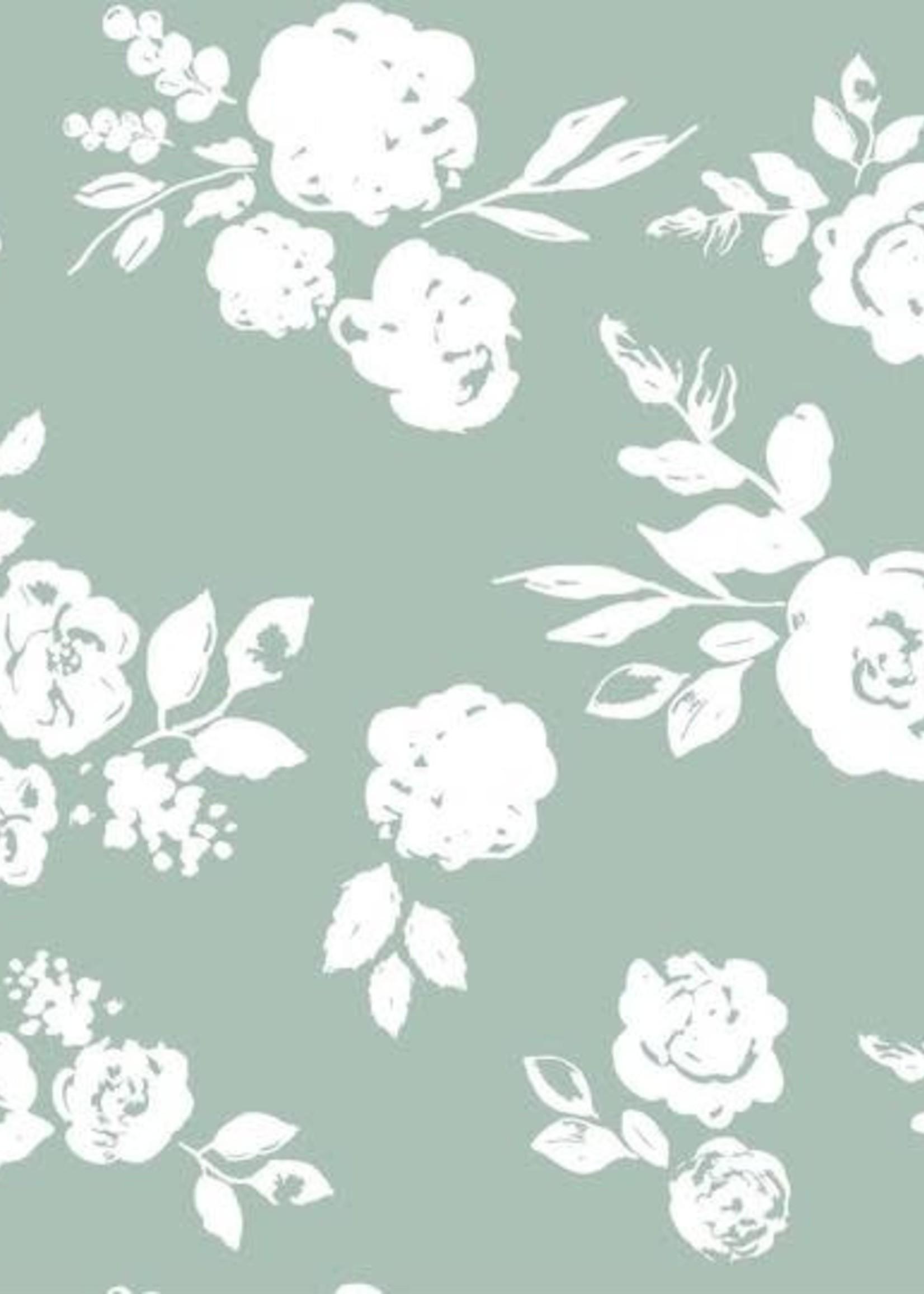 Bebe Au Lait Vintage Floral Classic Muslin Burp Cloth
