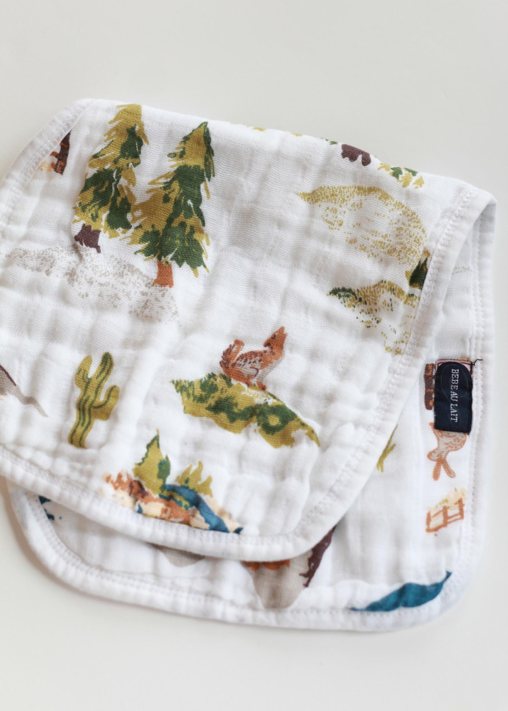 Bebe Au Lait Wyoming Classic Muslin Burp Cloth