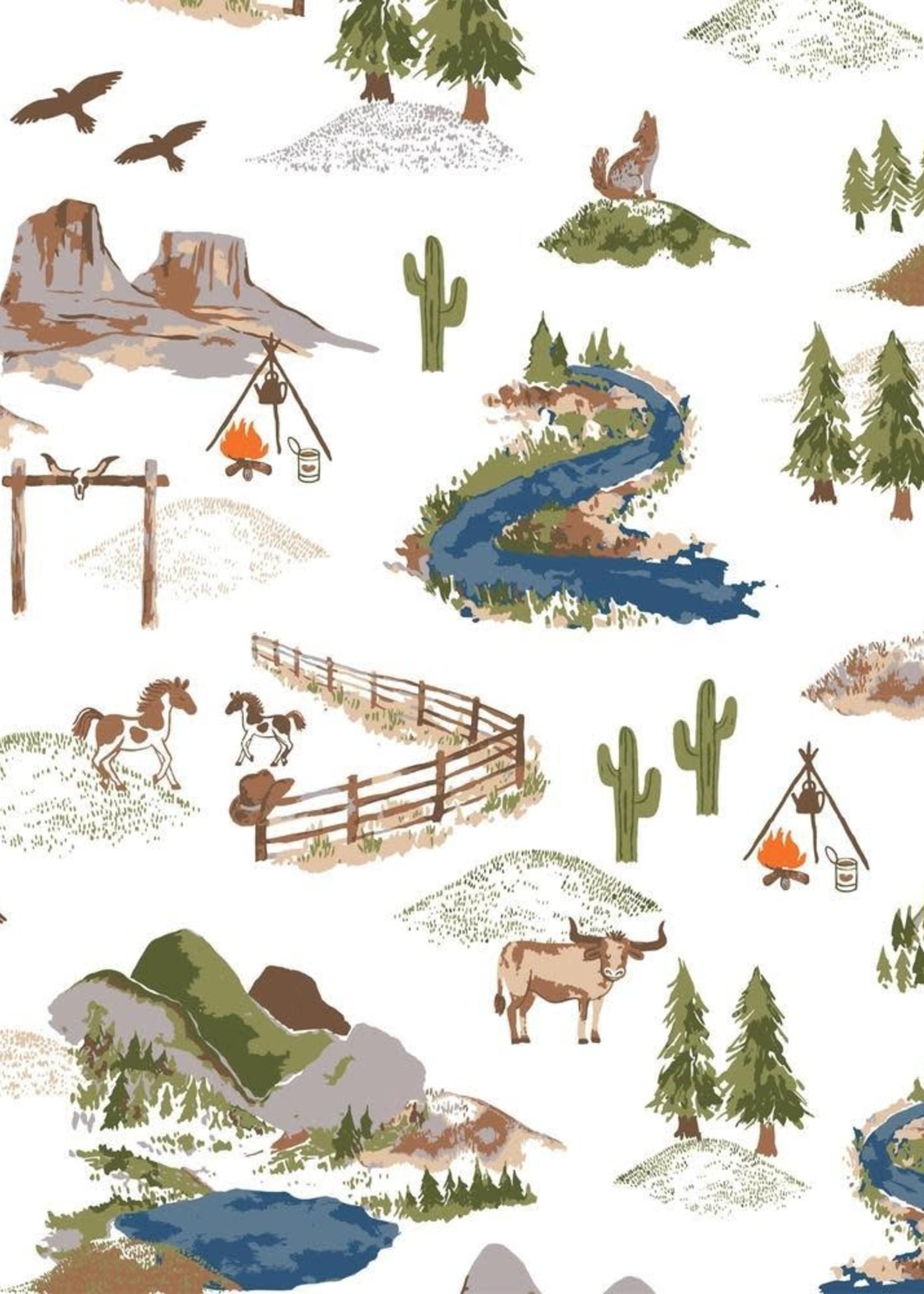 Bebe Au Lait Wyoming Classic Muslin Swaddle Blanket