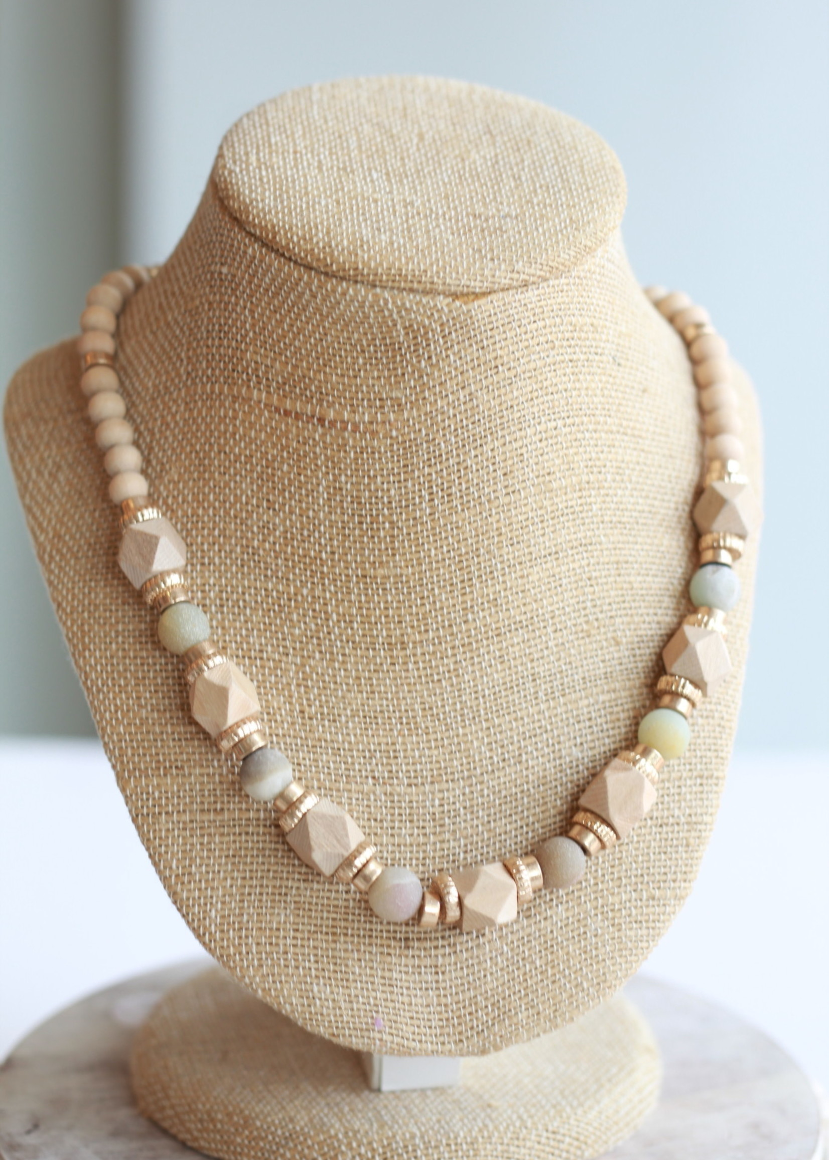 Erin McDermott Sand Wood Necklace
