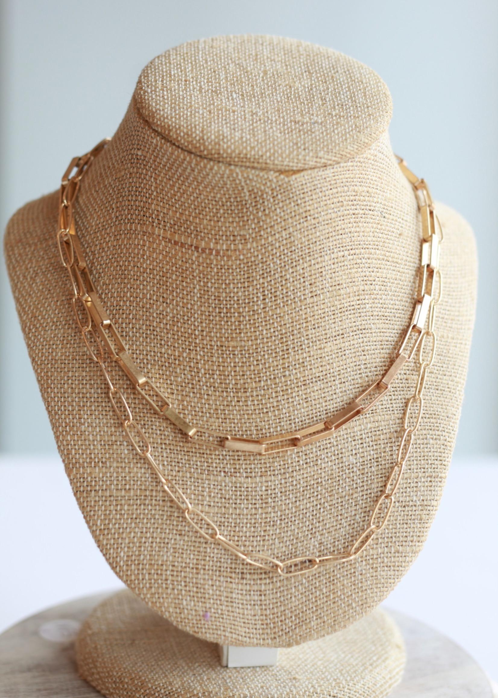 Erin McDermott Liza Link Gold Necklace