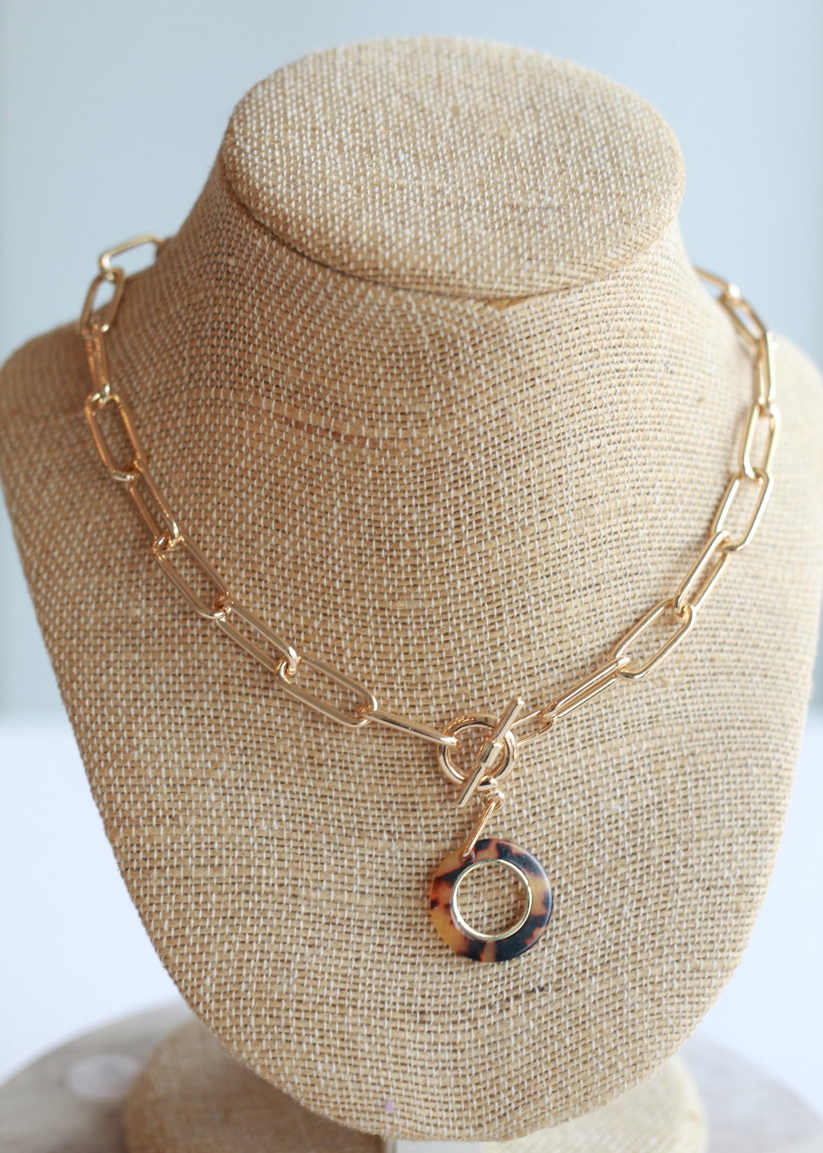 Erin McDermott Tortoise Toggle Necklace