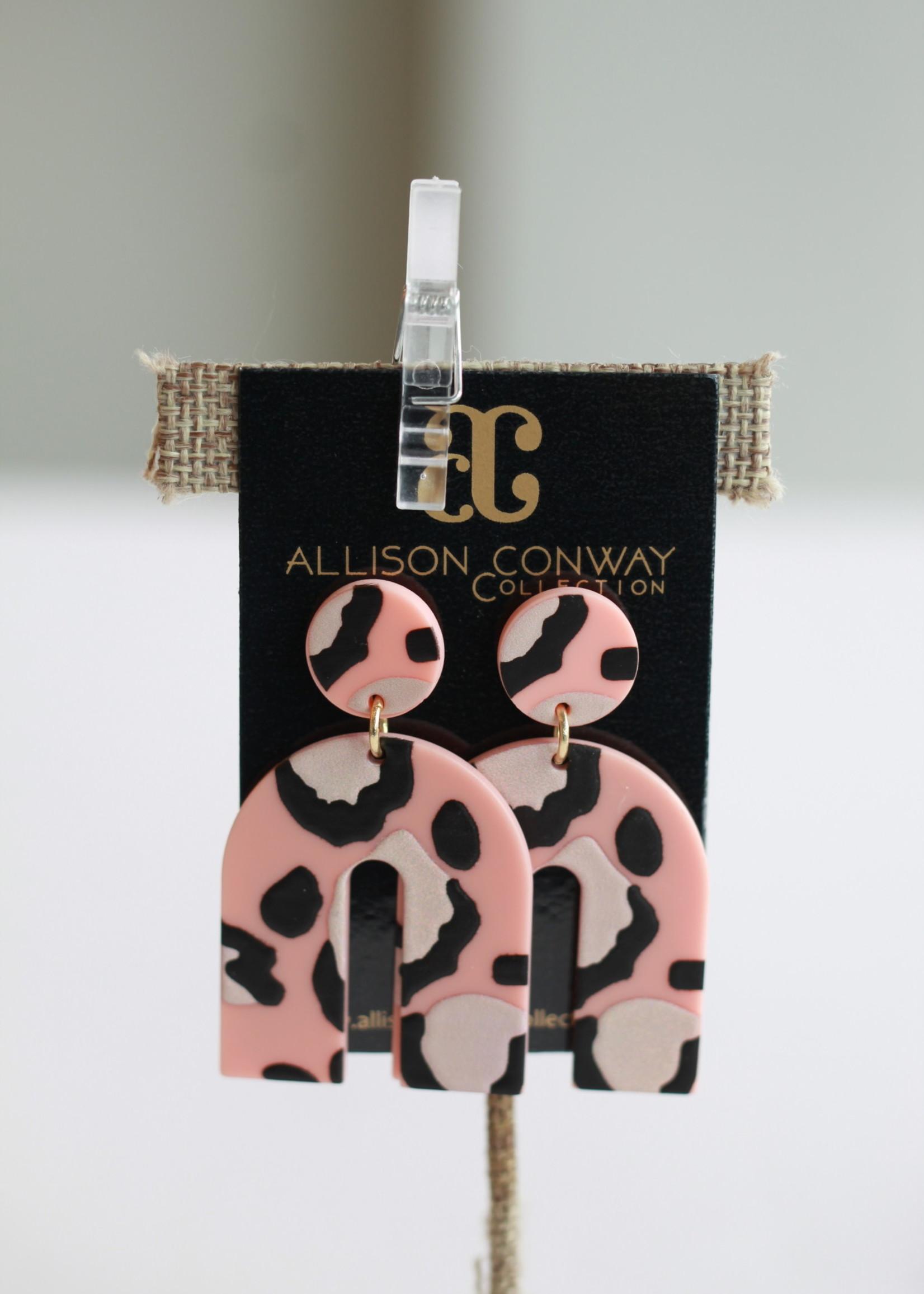 Allison Conway AC Pink Cheetah Earrings