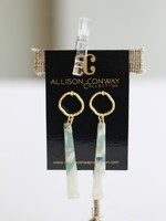 Allison Conway AC Emerald Marbled Acrylic Earrings