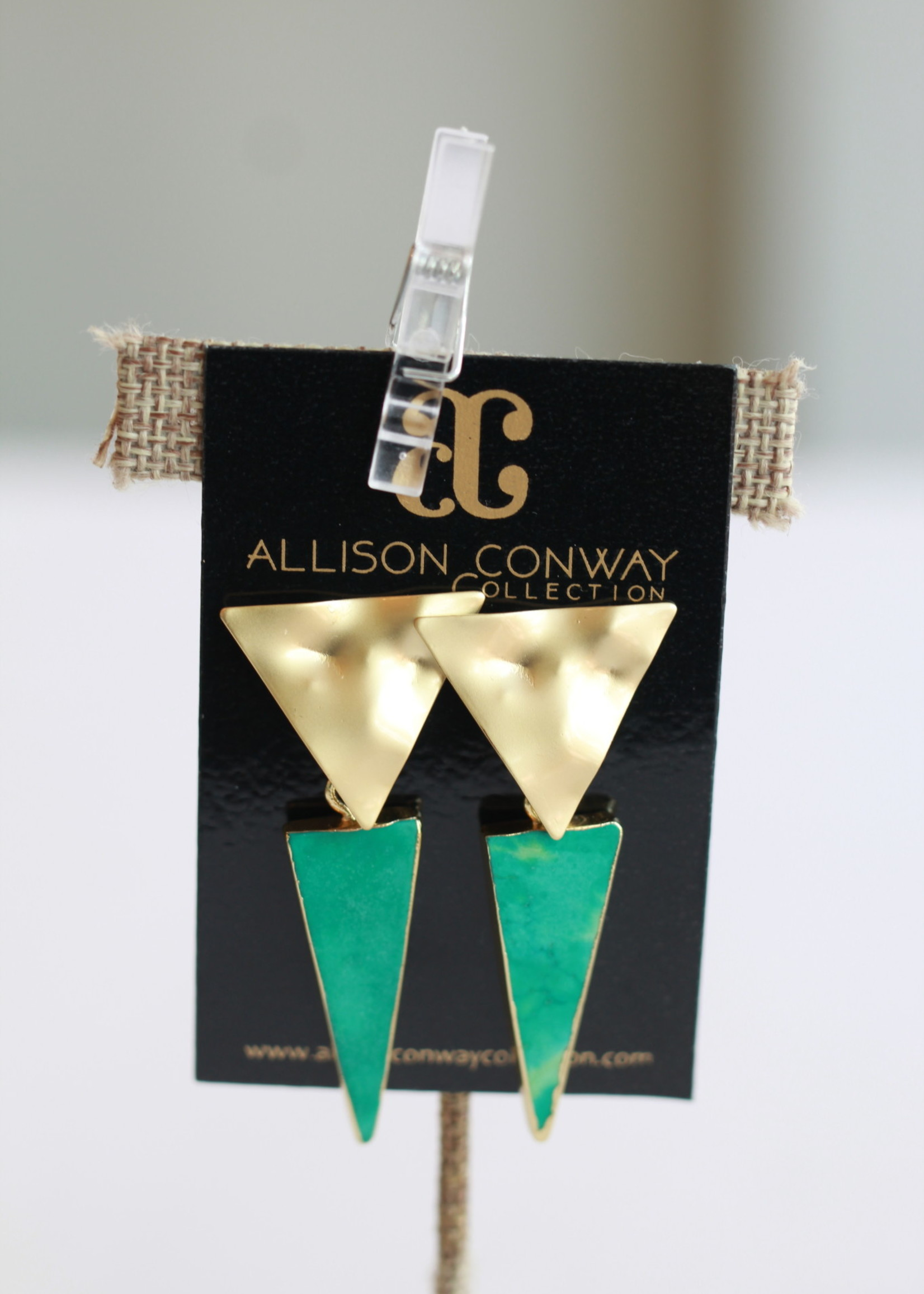 Allison Conway AC Triangle Earrings