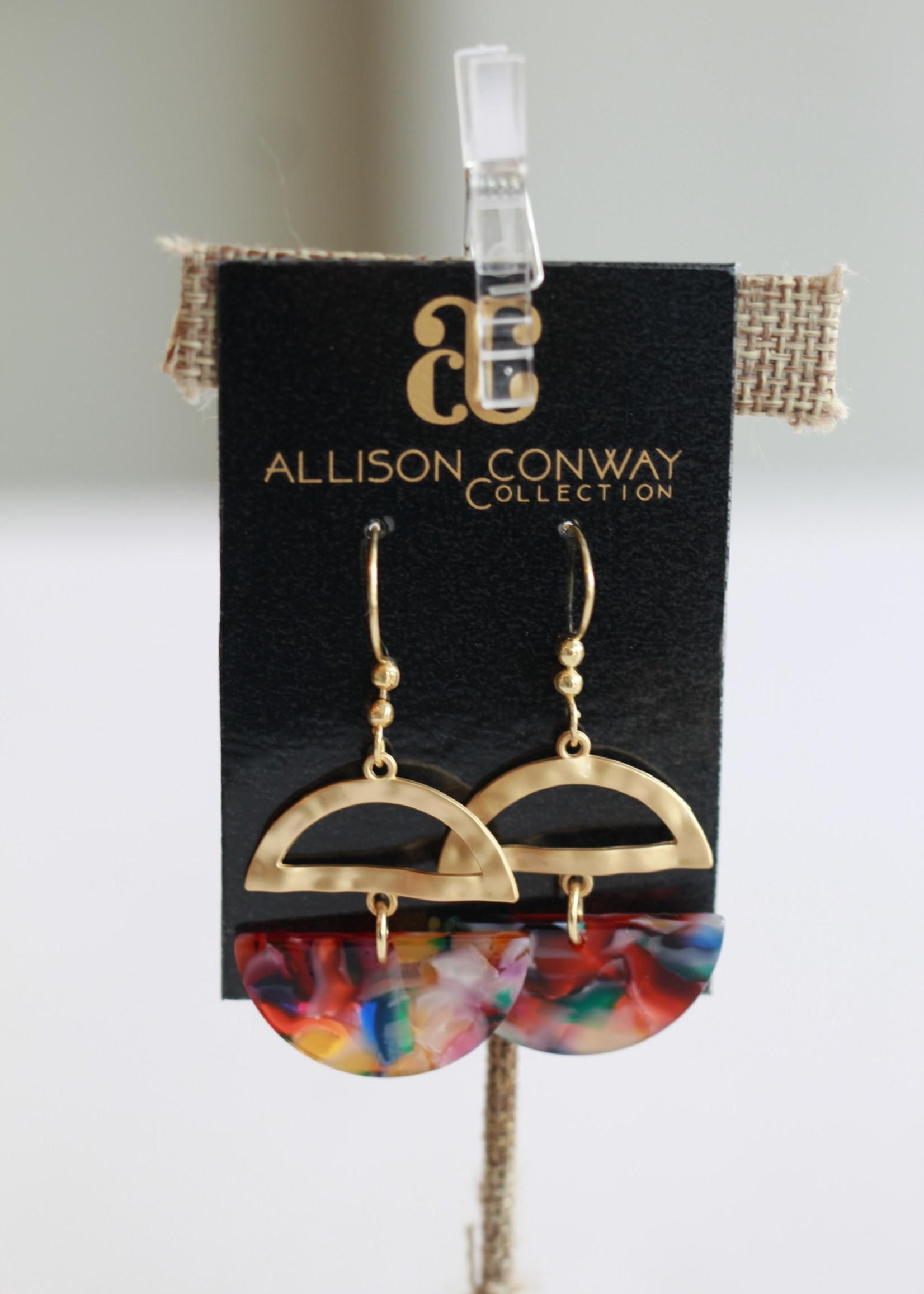 Allison Conway AC Multi Rainbow Drop Earrings