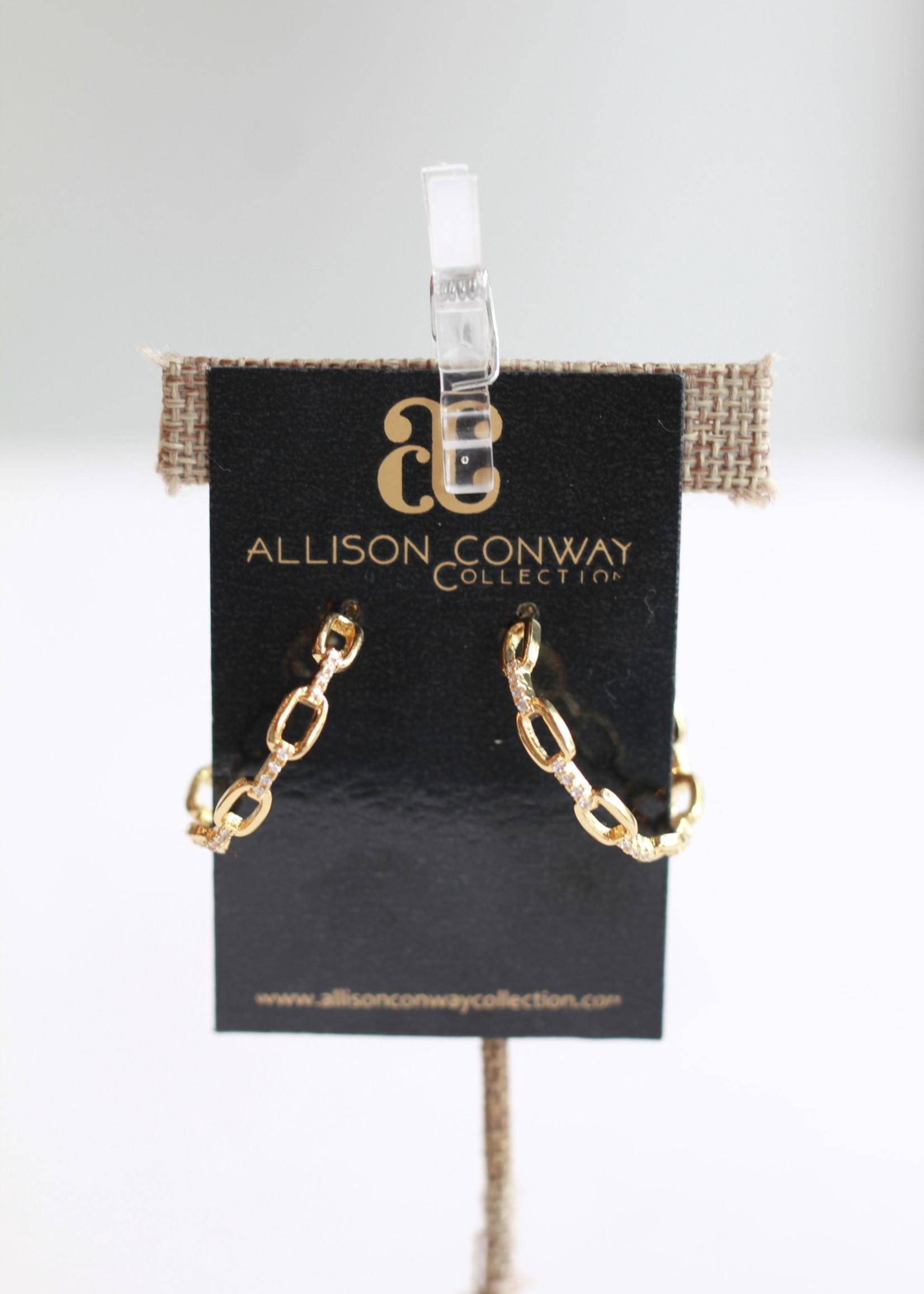 Allison Conway AC Chain Glitz Hoops