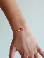 Allison Conway AC Ruby Geode Bracelet