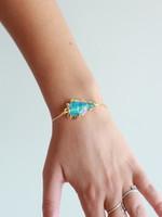 Allison Conway AC Blue Arrowhead Bracelet
