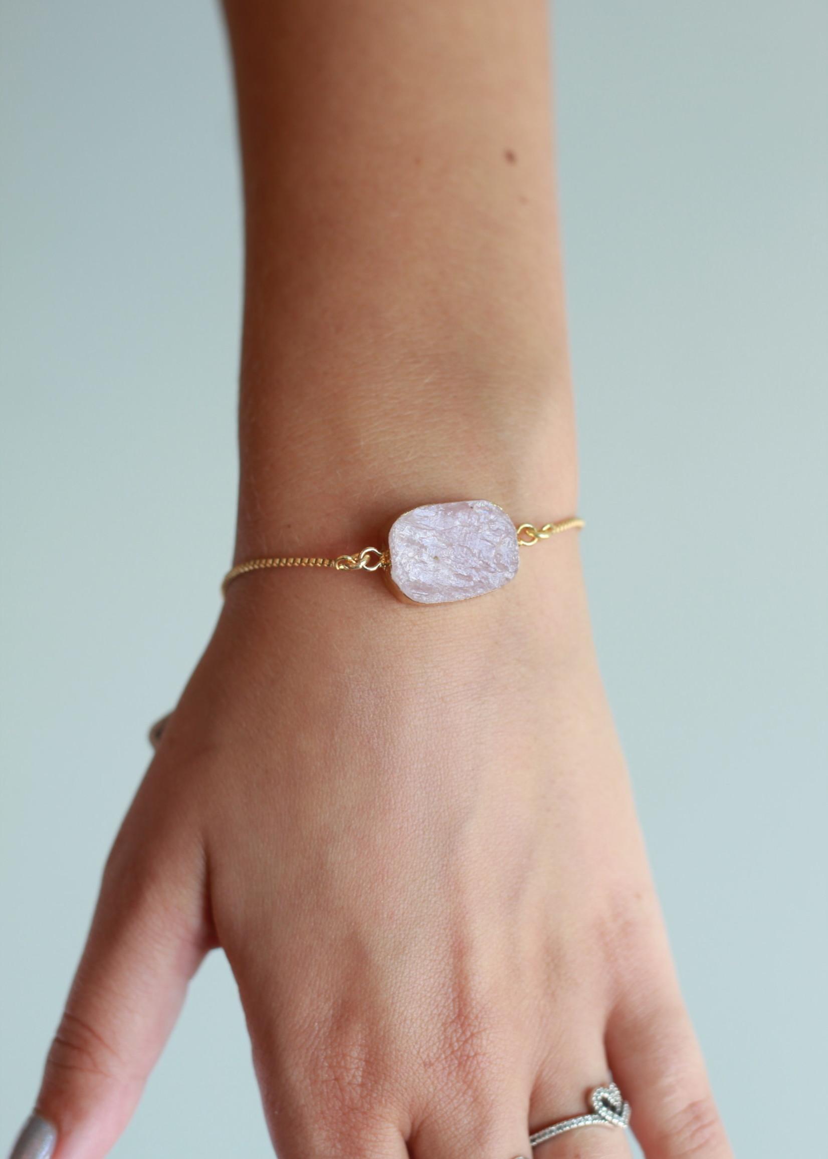 Allison Conway AC Pink Stone Bracelet