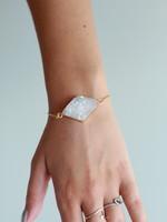 Allison Conway AC Large Triangle Druzy Bracelet