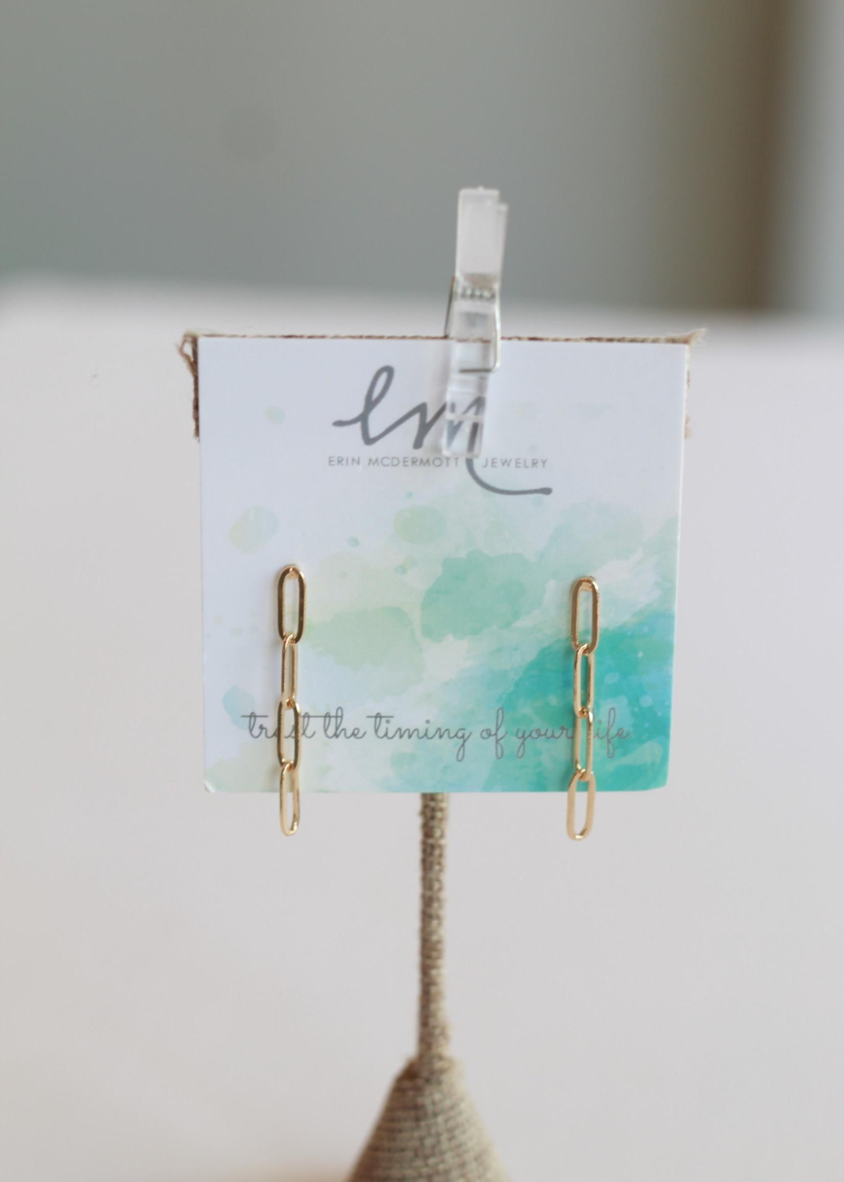 Erin McDermott Chain Drop Earrings