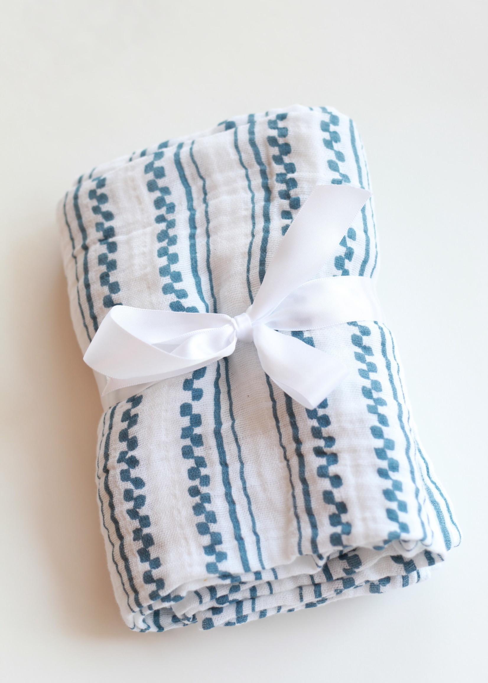 Bebe Au Lait Western Stripe Classic Muslin Swaddle Blanket